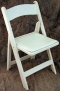 Where to rent CHAIRS - PADDED RESIN  WHITE in Old Town ME